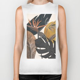 Abstract Tropical Art III Biker Tank