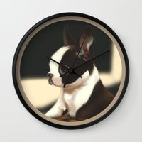 puppy Wall Clocks featuring Puppy by EliseBrave