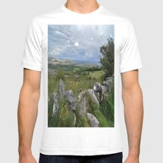 Slowly the Landscape Changes.... MEDIUM Mens Fitted Tee White
