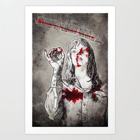 California Mountain Snake // Kill Bill Art Print