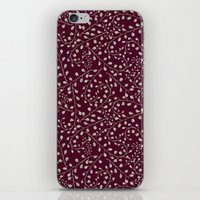 burgundy iPhone & iPod Skins featuring Burgundy by Lisi Fkz