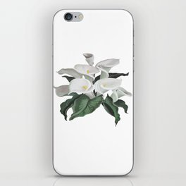 Painted Cream Calla Lilies Vector iPhone Skin