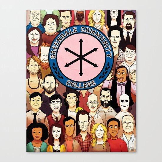 Greendale Human Beings Canvas Print