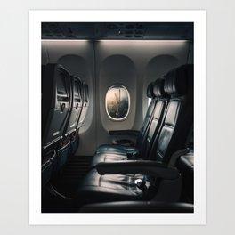 Airplane Seats Art Print