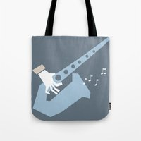 jazz Tote Bags featuring jazz by liva cabule