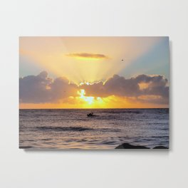 Golden Lining Metal Print