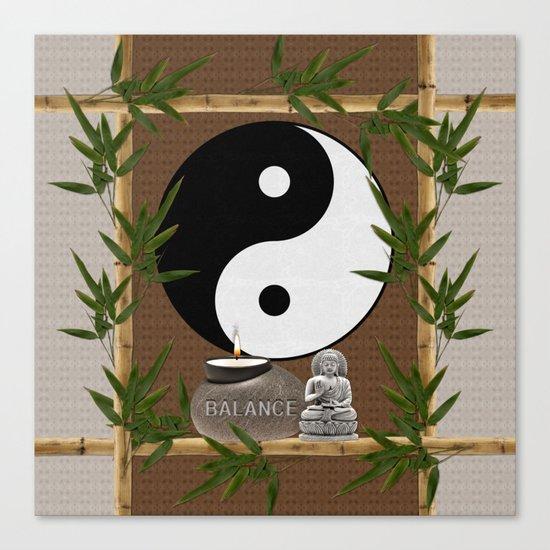 The Balance of Yin Yang Canvas Print