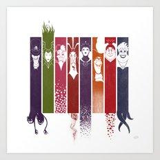Disney Villains Art Print