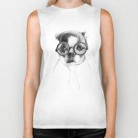 dog Biker Tanks featuring DOG by Кaterina Кalinich