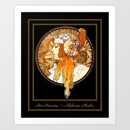 Art Nouveau Cameo No. 2 Art Print