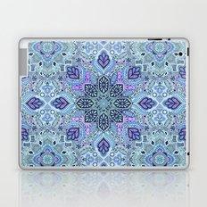 Navy Blue, Mint and Purple Boho Pattern  Laptop & iPad Skin