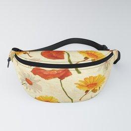 Wild Flowers Vintage Fanny Pack
