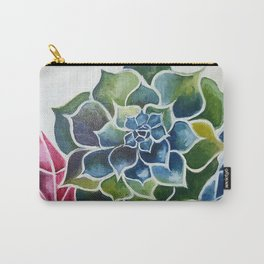 Succulents & Crystals Carry-All Pouch