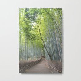 Arashiyama Bamboo Forest Entrance Metal Print