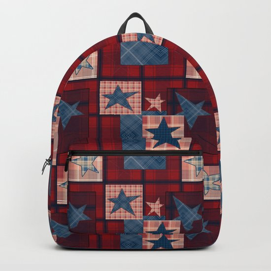 Creative patchwork. Star. The creative pattern. Backpack