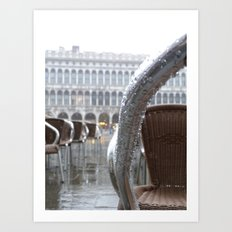 St Mark's Square after rain Art Print