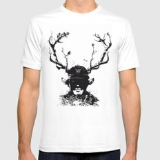 BOY FROM THE WOOD Mens Fitted Tee MEDIUM White