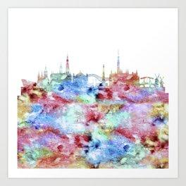 Amsterdam City Skyline Art Print