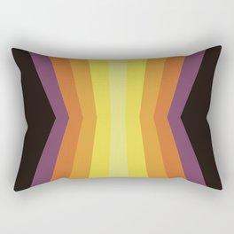 Retro Sunset Reflection Rectangular Pillow
