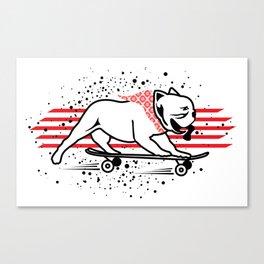 skateboarding dog Canvas Print