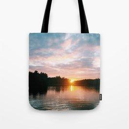 Northbound Sunset Tote Bag