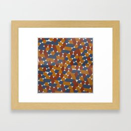 Red-Blue-Orange Framed Art Print