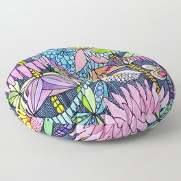 Pink Rain Forest Floor Pillow