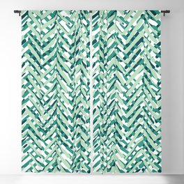 Boho, Green, Tropical, Summer, Abstract Pattern Blackout Curtain