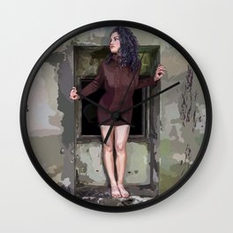 Her Bare Nature Wall Clock