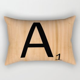 Scrabble Letter Tile - A Rectangular Pillow