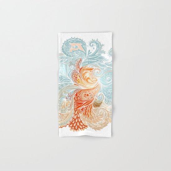 Light Blue Floral Indian Pattern Hand & Bath Towel