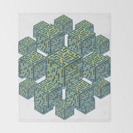 Cubed Mazes Throw Blanket