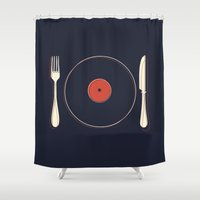 vinyl Shower Curtains featuring Vinyl Food by Koning