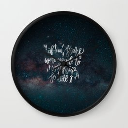 So Will I Wall Clock