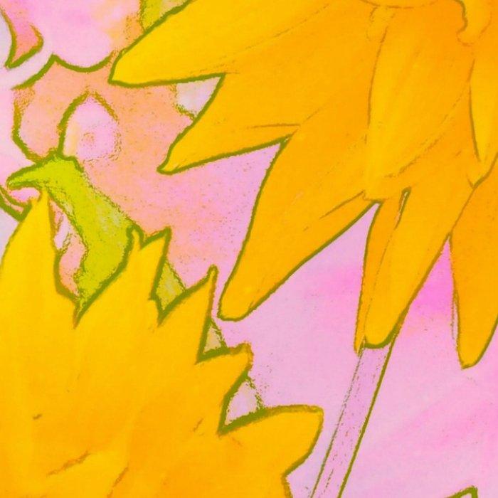 Pink & Gold Floral Leggings