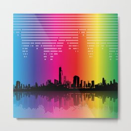 Urban Rhythm Metal Print