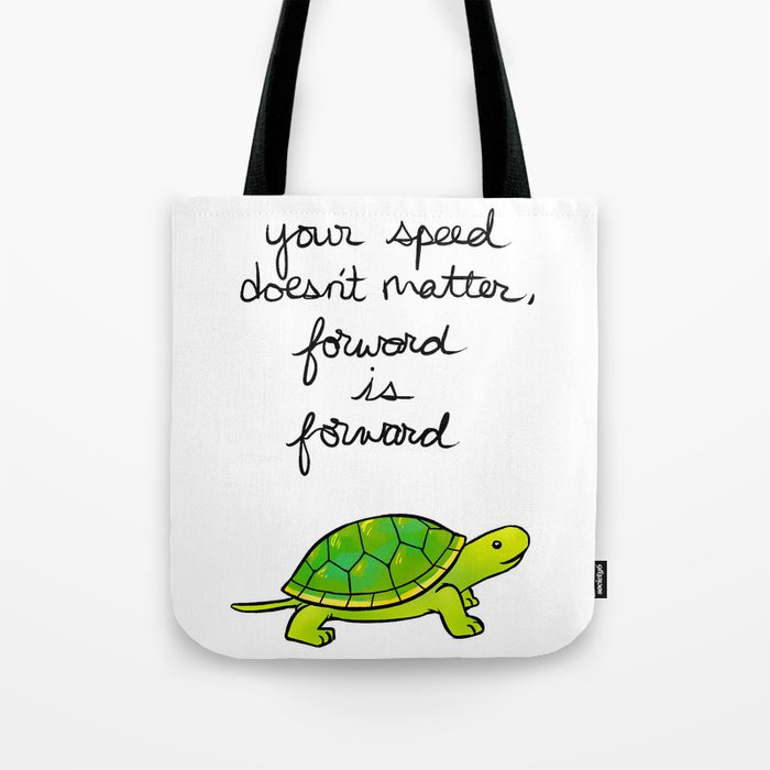 Forward Is Turtle Tote Bag By Thelatestkate