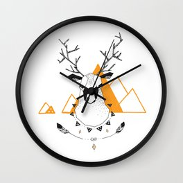 Geo Deer Wall Clock
