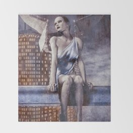 City Angel Throw Blanket