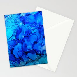 Blue Petunias Stationery Cards