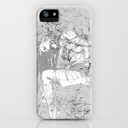 Lady in Peonies iPhone Case