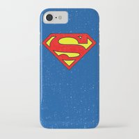superman iPhone & iPod Cases featuring Superman by Alisa Galitsyna