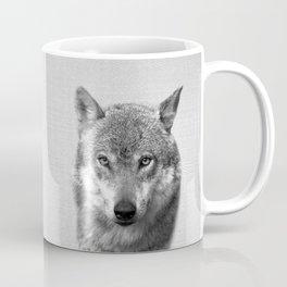 Wolf - Black & White Coffee Mug