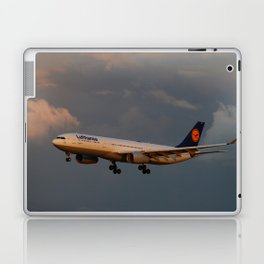 A Lufthansa Plane Peparing For Landing Laptop & iPad Skin