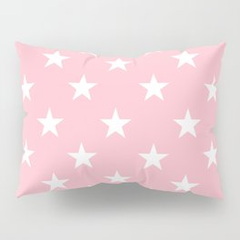 Stars (White/Pink) Pillow Sham