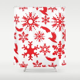 Snowbird Pattern Shower Curtain