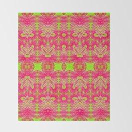 Vintage Worn Neon Felt Print Throw Blanket