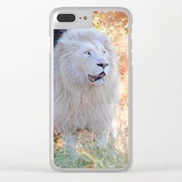 White king Clear iPhone Case