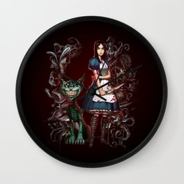Alice's Madness Wall Clock
