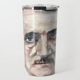 EDGAR ALLAN POE - watercolor portrait.4 Travel Mug